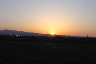 Sunsent in Aizuwakamatsu