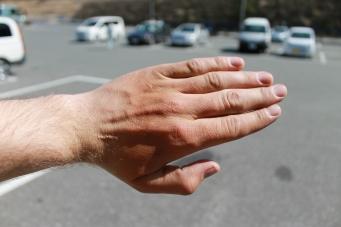 Hand-tan