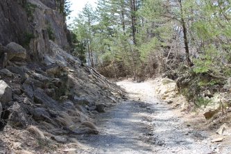 Completely winging it up some random mountain path.