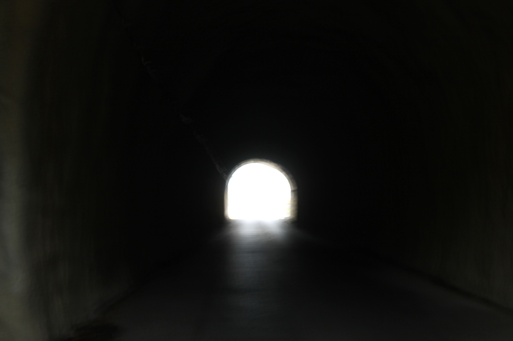 In the spirited away tunnel