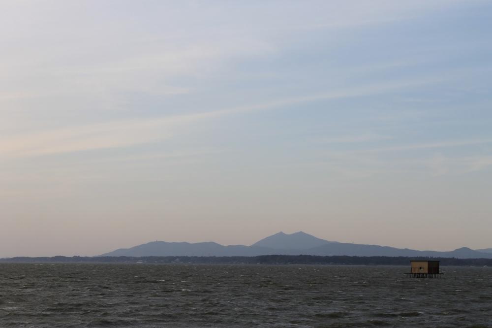 Mt. Tsukuba from Lake Kasumigaura, Ibaraki