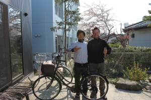 This fella cycled from Nara some 500miles to the south on his mamachari, respect.